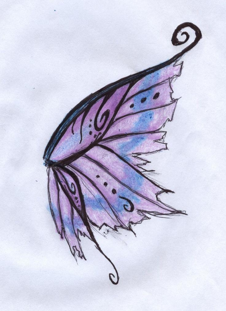Крылья феи рисунок, марта