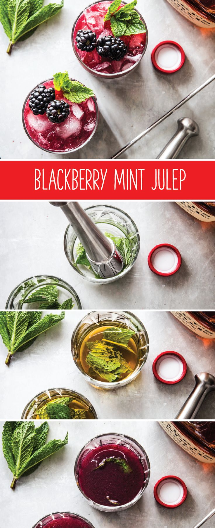 Don't you just love it when you can put a twist to a classic southern cocktail? Us too! That's why this recipe for Blackberry Mint Julep is one of our favorite fruity mixed drinks.