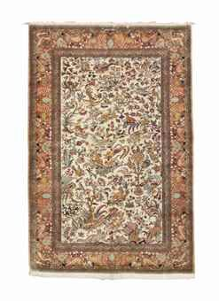 SILK TURKISH RUG, MODERN Approximately 6 ft. 8 in. x 4 ft. 5 in. (203 cm. x 135 cm.)