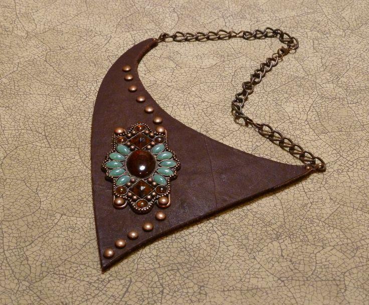 crafts with scrap leather | leather craft ideas | RL-scrap leather-metal belt segment-brads ...