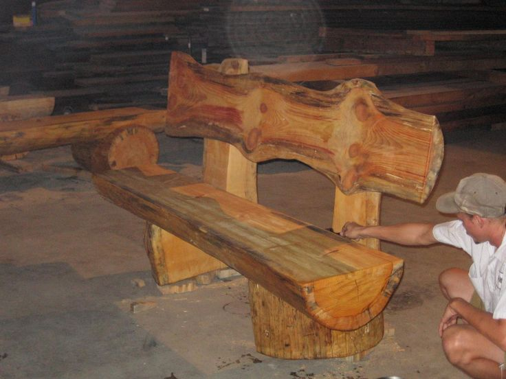 Amish Furniture For Sale log benches | Log Benches Photo Gallery | Home in Montana | Pinterest