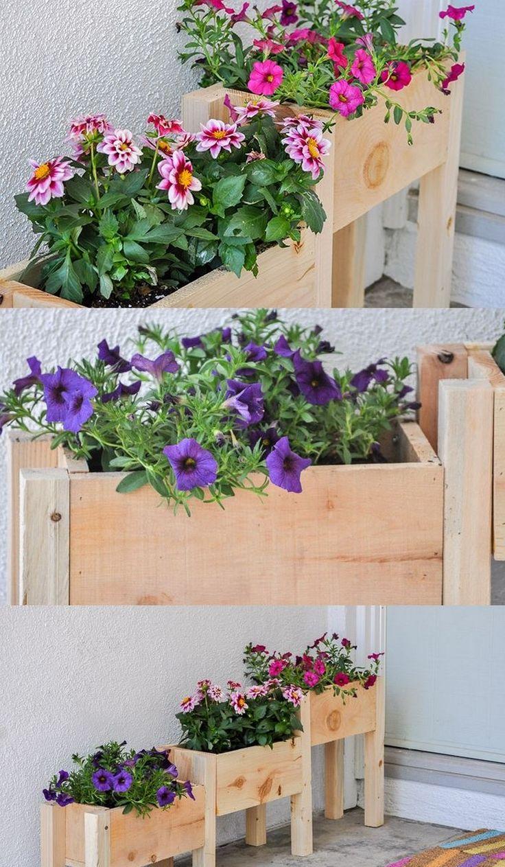jardini re en bois diy quelques id es faciles r aliser. Black Bedroom Furniture Sets. Home Design Ideas
