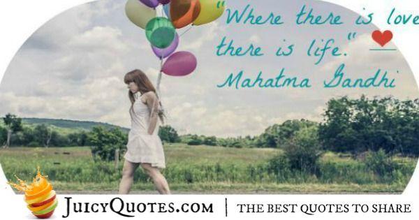 Cute Love Quote - Mahatma Bandhi