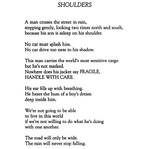 "Naomi Shihab Nye, ""Shoulders"""