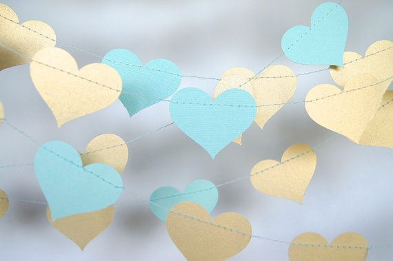 Hey, I found this really awesome Etsy listing at https://www.etsy.com/listing/185115763/gold-and-tiffany-blue-heart-paper