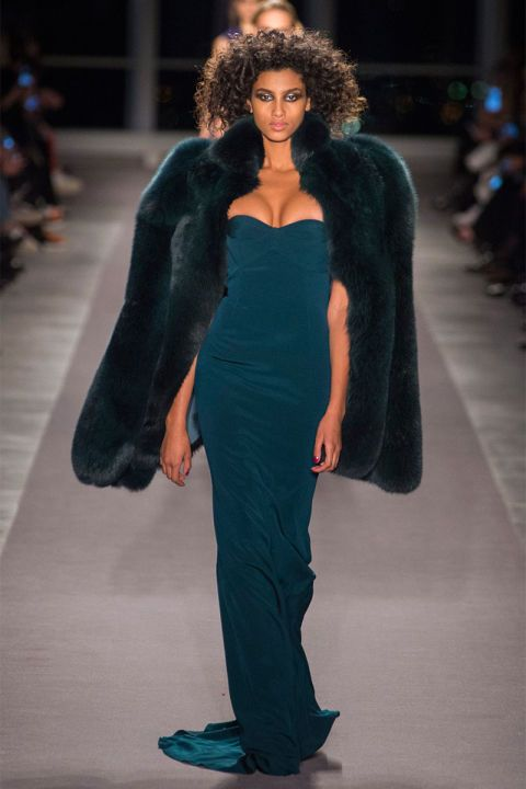 The coat of choice is a fur that knows how to make an entrance—think of the biggest star at Studio 54 on an especially frigid night.   Pictured: Brandon Maxwell