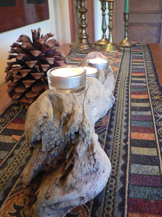 Portacandele di Driftwood idea regalo sposa di FlotsamJetsamCrafts