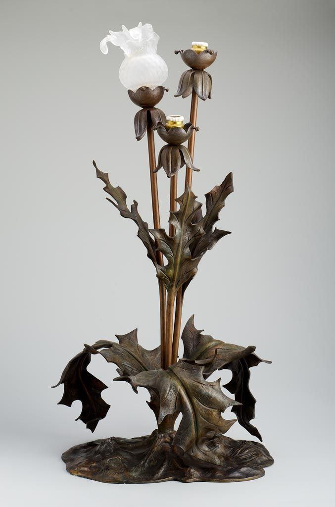 Electric table lamp ca. 1900. Place of production: France. Materials: bronze; colourless, etched glass; electric fittings. Techniques: cast. |  Museum of Applied Arts, Budapest, ˆ 2015ˆˆ
