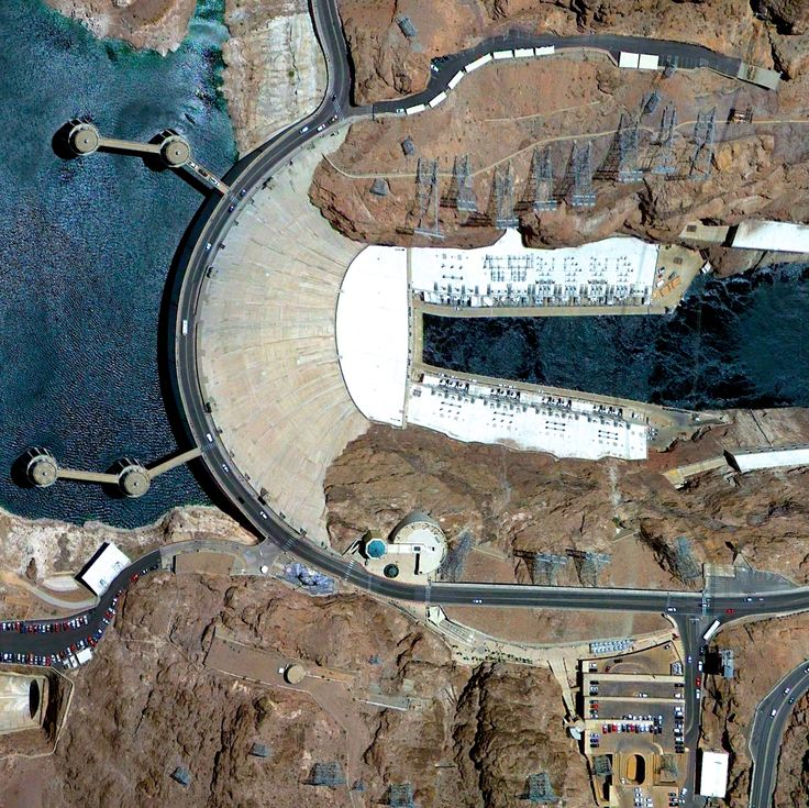 11/6/2014 Hoover Dam Clark County, Nevada / Mohave County, Arizona, USA 36°0′56″N 114°44′16″W Hoover Dam is a 726-foot high, 1,244-foot wide concrete arch-gravity dam located on the Colorado River at the border of Arizona and Nevada. Constructed between 1931 and 1936 during the Great Depression, a workforce of approximately 20,000 poured a total of 4.36 million cubic yards of concrete to complete the structure. Overall, there is enough concrete in the dam to pave a two-lane highway from San…