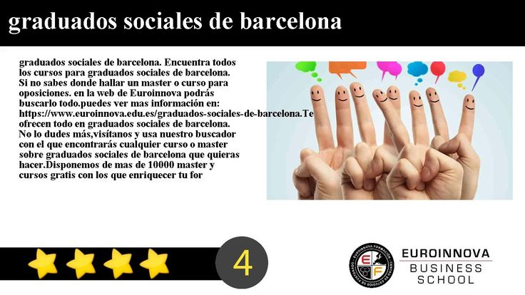 graduados sociales de barcelona - graduados sociales de barcelona. Encuentra todos los cursos para graduados sociales de barcelona. Si no sabes donde ver un curso o master oficial. en la web de Euroinnova formación podrás encontrar todo.    ver mas información en: https://www.euroinnova.edu.es/graduados-sociales-de-barcelona.    Te ofrecemos todo en graduados sociales de barcelona. No lo dudes másentra y usa nuestro buscador con el que encontrarás cualquier curso o master sobre graduados…