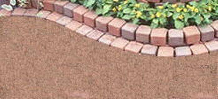 『水で固まる土』マサファルトとラグブリックの花壇