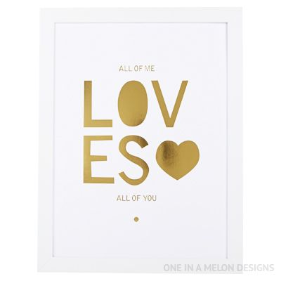Gold Foil Print | One In A Melon Designs