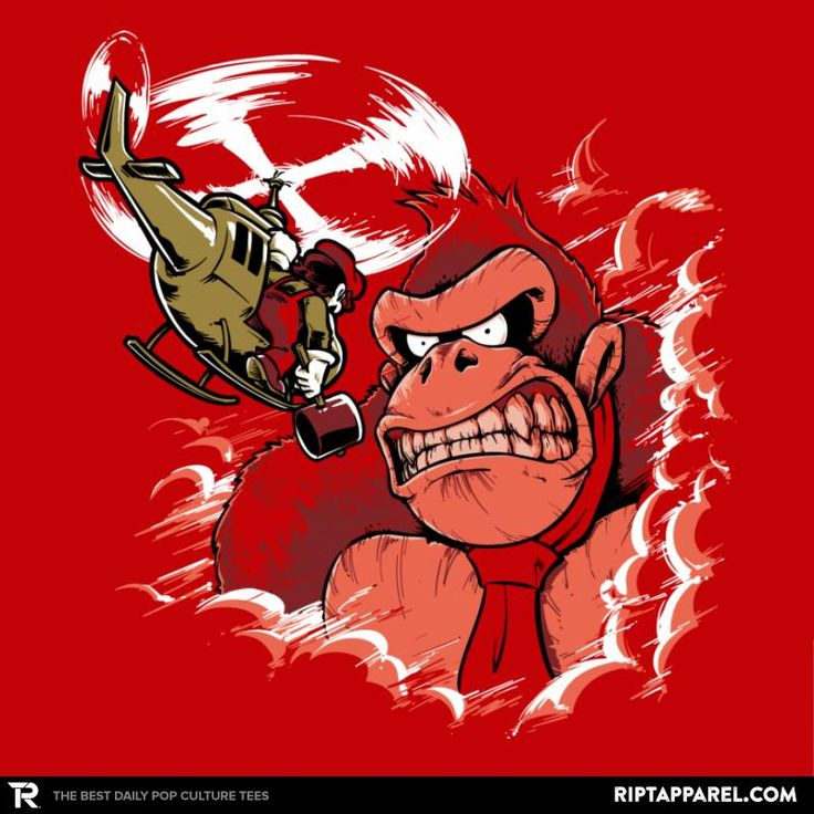 Donkey King: Skull Island T-Shirt - Donkey Kong T-Shirt is $13 today at Ript!