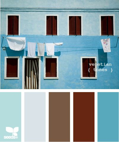 """Venetian Tones."" Something about blue & brown makes me happy. . ."
