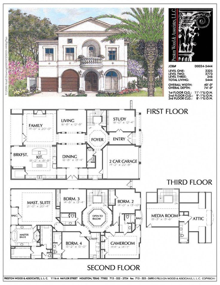 Unique Two Story House Plan Floor Plans For Large 2 Story Homes Desi Preston Wood Associates Mo Sims House Plans Two Story House Plans Dream House Plans