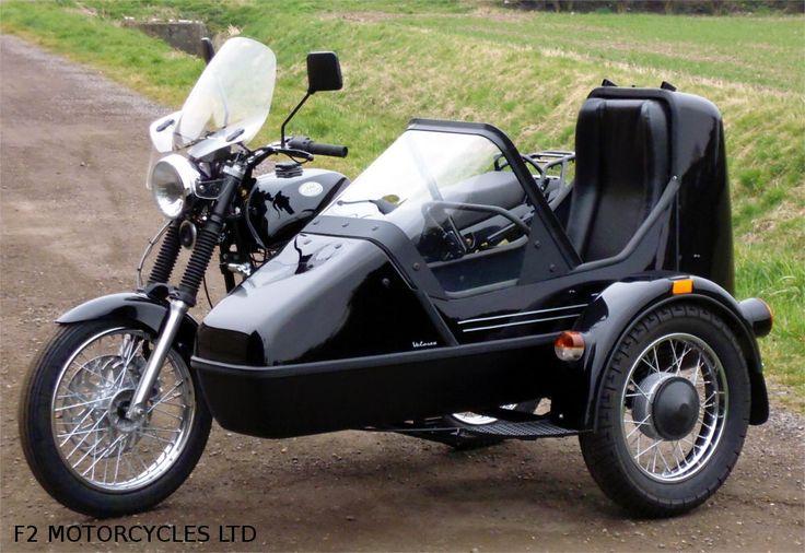 Jawa 350 and sidecar. http://www.jawamotorcycles.co.uk/models.html