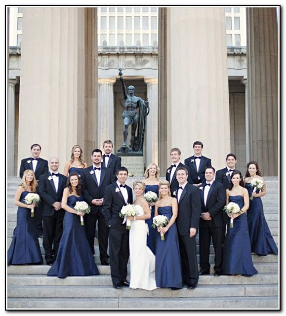 If cant find a navy blue of the same tone for the groomsmen and ...