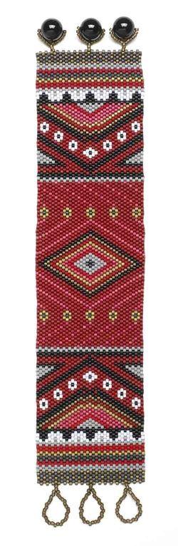 Tamzara - Bead Magazine, free peyote pattern