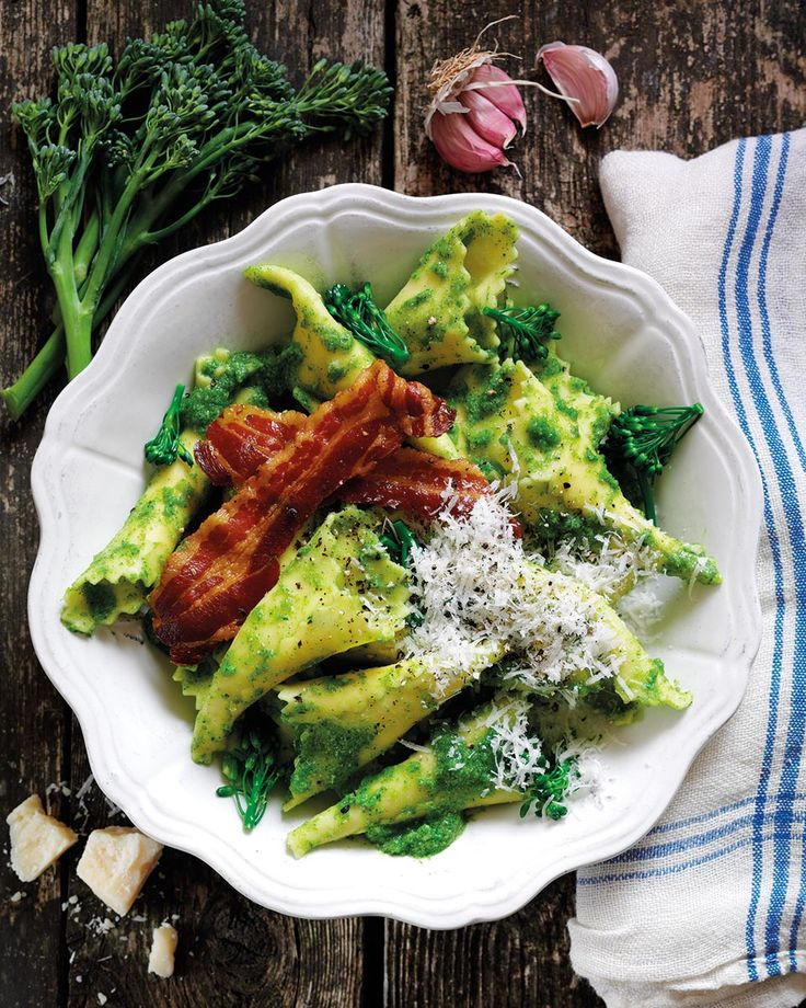 Turn broccoli into pesto easily with this simple midweek pasta recipe from Gennaro Contaldo. Leave out the pancetta and use a vegetarian cheese to make this veggie.