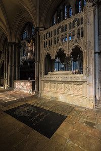 Ely city Cathedral The Presbytery tombs images