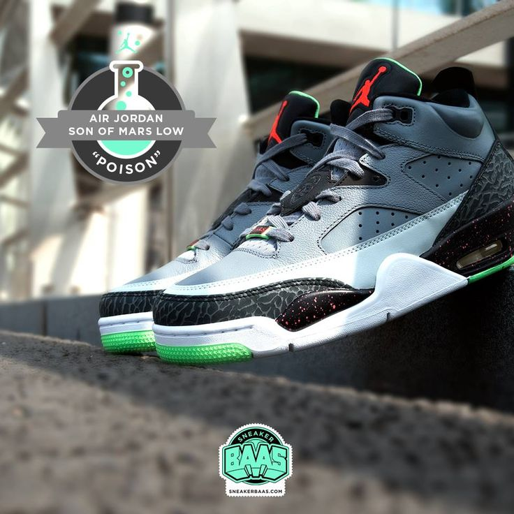 """#jordan #jordan23 #jordanblackcement #jordanblack #specialjordan #poisongreen #jordanthree #jordansonofmars #sneakerbaas #baasbovenbaas  Air Jordan Son of Mars Low """"Poison Green"""" - Now available!  For more info about your order please send an e-mail to webshop #sneakerbaas.com!"""