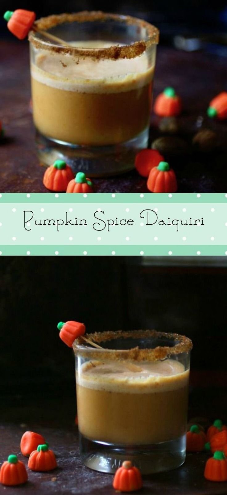 Pumpkin spice daiquiri cocktail recipe is the perfect fall beverage! Spiced rum and pumpin create a sweet, adults only drink! From RestlessChipotle.com