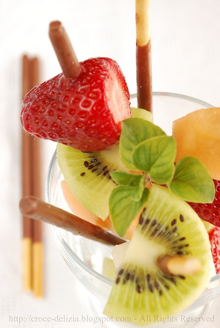 Fruit Kabobs with Chocolate Sticks by Antonella F.: Healthy, delicious and just