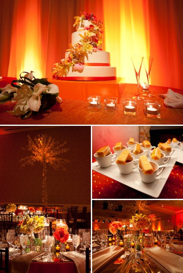 Wedding Colors Inspired By A Sunset