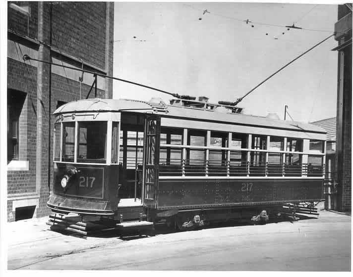 MP 5115. X class tram, Malvern Depot, ca. 1925.