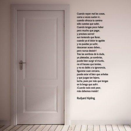 Vinilos decorativos personalizados con un poema de rudyard - Vinilos con textos ...