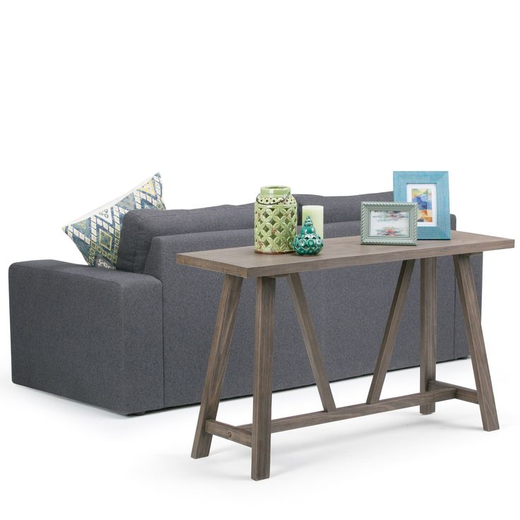 Wyndenhall Stewart Driftwood Brown Finish Console Sofa Table  - Popular Driftwood sofa Table For Your House