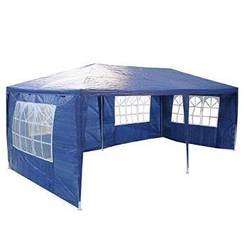 Durable 10 x 20 Outdoor Garden Wedding Party Patio Tent Waterproof Polyethylene Cover 4 Sidewalls Screen Blue for Equipment Sport Camping Hiking Sun Shelters * More info could be found at the image url.(This is an Amazon affiliate link and I receive a commission for the sales)