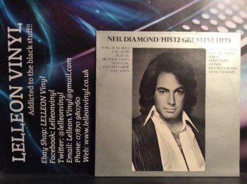 Neil Diamond His 12 Greatest Hits LP Album Vinyl Record MCF2550 Pop 70's Music:Records:Albums/ LPs:Pop:1970s