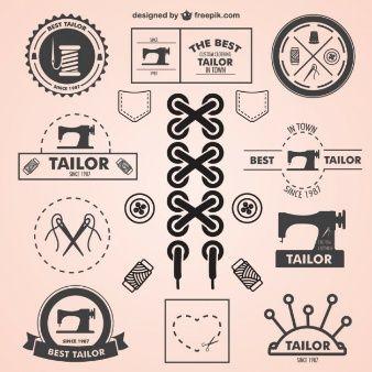 Symboles de mesure vintage set