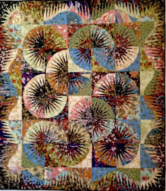 Japanese Fan, Quiltworx.com, Made by Kathy McKinney.