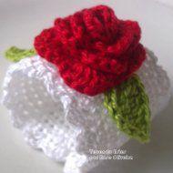 Argolas p/ Guardanapos - Rosas Vermelhas / UNIDADES