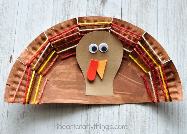 This paper plate yarn weaving turkey craft is adorable and is awesome as a fine motor activity for kids. Great Thanksgiving kids craft.