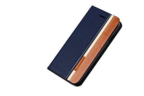 iPhone 6&6s case,Fashion Color Leather Flip Protective Wallet Card Holder Cover Shell case with HD Screen Protector for Apple i6&6s 4.7 inch,i6&6s,Color:Contrast-Blue. New and high quality leather case,Compact: Lightweight & Stylish. With unique beautiful