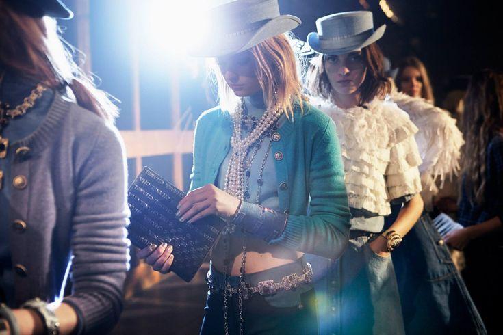 At Chanel's Pre-Fall 2013-2014, Paris-Dallas Collection in Dallas, Texas, USA.