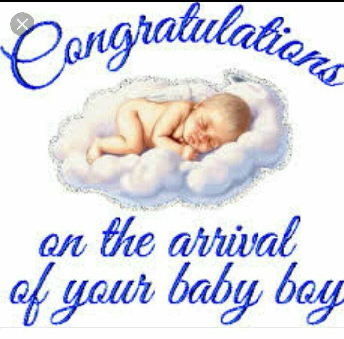 Открытка с новорожденным мальчиком на английском