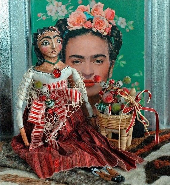 FRIDA Kahlo Christmas ART DOLL