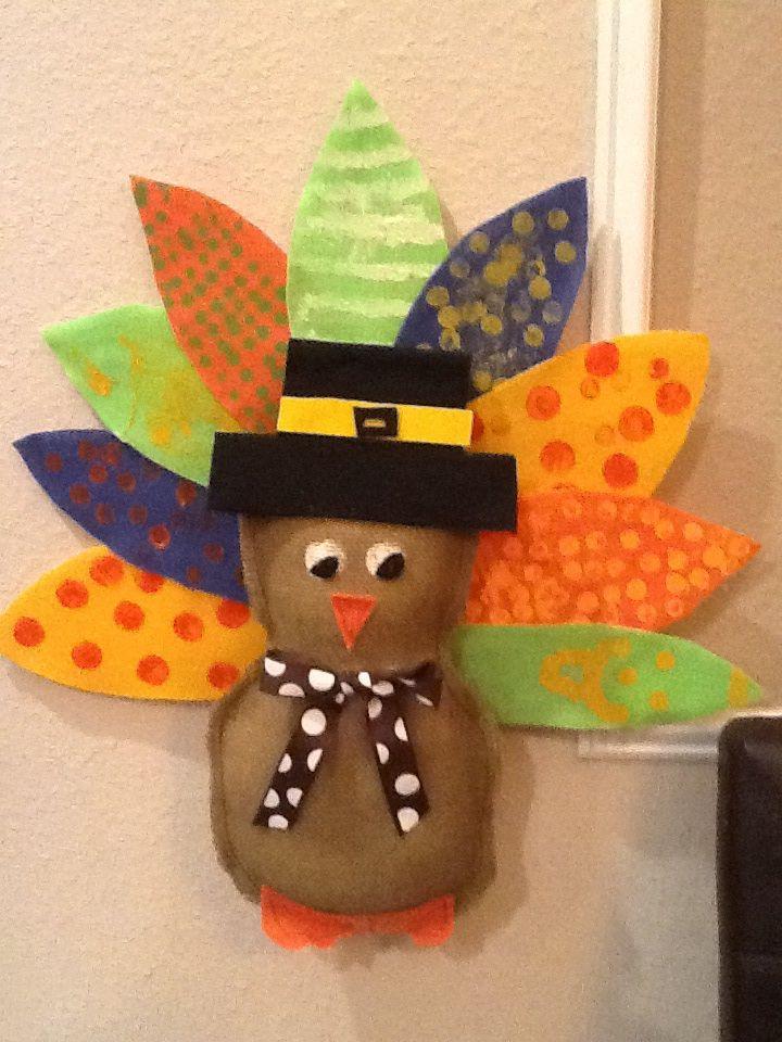 Thanksgiving Burlap Craft | Turkey Craft | Cute Thanksgiving Decoration For  Kids To Make | Thanksgiving