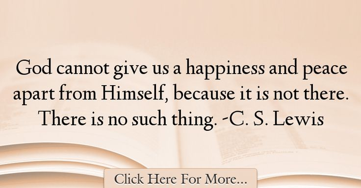 C. S. Lewis Quotes About God - 27822