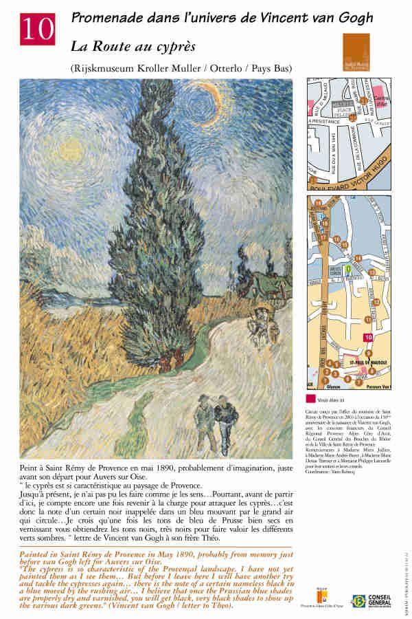 """""""La route au cyprés"""" #peinture #provence #vangogh #saintremydeprovence"""