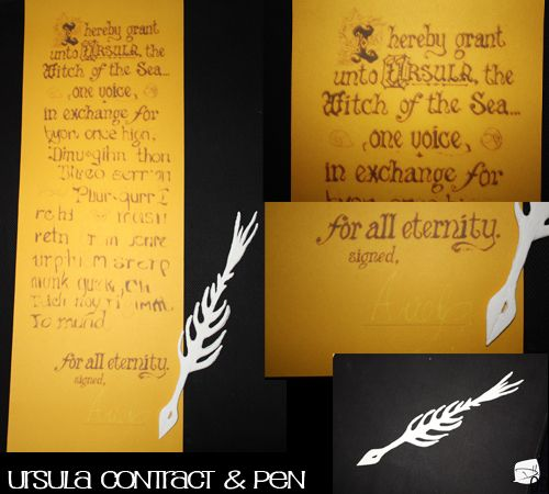 little mermaid ursula's scroll | Ursula's Contract and Pen ...