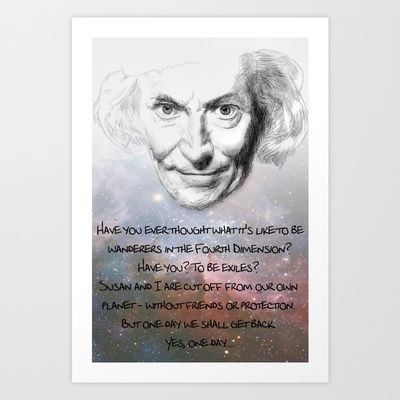 Doctor Who - William Hartnell Hand Drawn Poster - Exiles in Time and Space Art Print by Particularly Peculiar - $17.68 #drwho #doctorwho #drawn #superwholock #firstdoctor