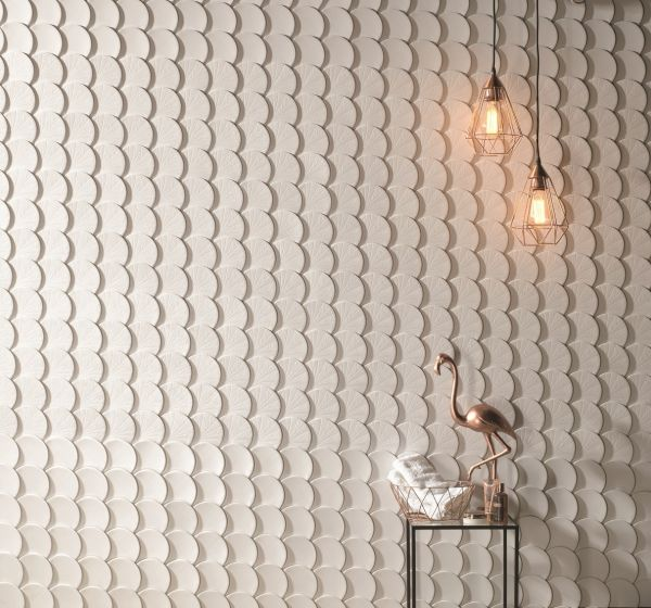 Natucer Aims To Show The Aesthetic Possibilities A Ceramic Wall Tile Can Offer With Art Escama Designed To Be A Cera Ceramic Wall Tiles Asian Tile Wall Lights