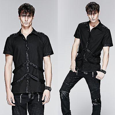 PUNK-RAVE-Strap-Shirt-Gothic-Hemd-EBM-GOTHIC-UNIFORM-SHIRT