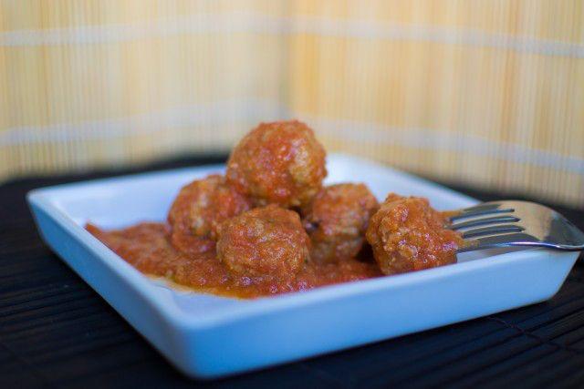 Kødboller i tomatsovs   Polpette di vitello al sugo   Min mands italienske køkken