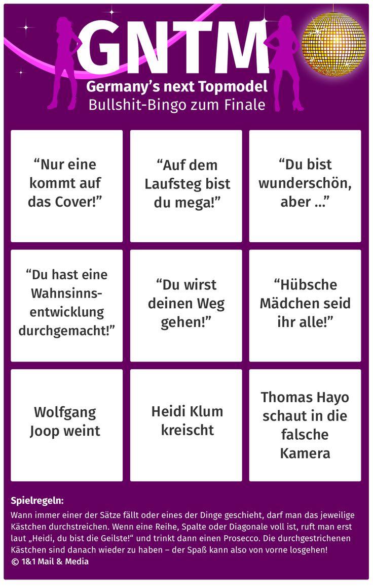 bild zu germany 39 s next topmodel gntm finale bullshit bingo infographics pinterest deutschland. Black Bedroom Furniture Sets. Home Design Ideas